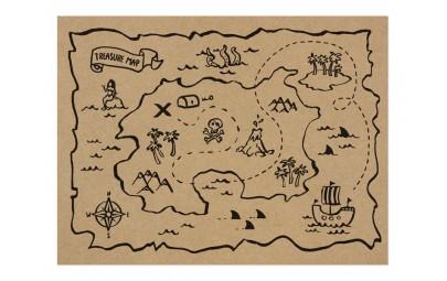 Podkładki papierowe Piraci...