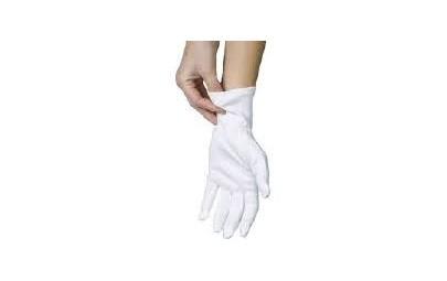 Rękawice bawełniane białe...