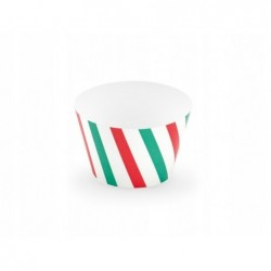Papilotki do muffinek Merry Christmas w paski 4,8x7,6x4,6cm 6 szt.