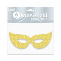 Maska papierowa złota z...