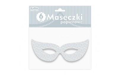 Maska papierowa srebrna z...