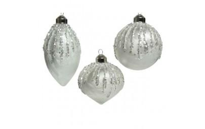 Bombka dekoracyjna srebrna...