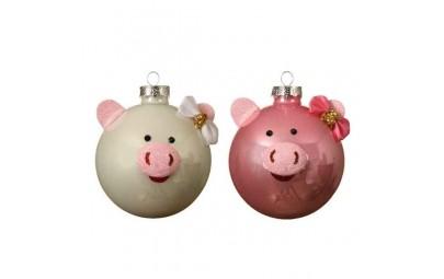 Bombka dekoracyjna świnka...