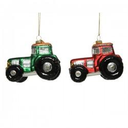 Bombka traktor czerwony/zielony 9,5x5,2x7cm