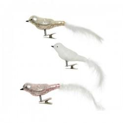 Ptaszki na klipsie na choinkę mix 3szt