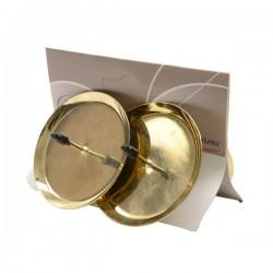 Świecznik adwentowy jasno złoty 6cm 4szt