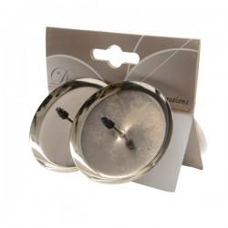 Świecznik adwentowy srebrny 6cm 4szt