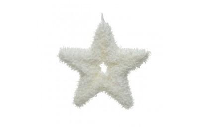 Gwiazda styropianowa biała...