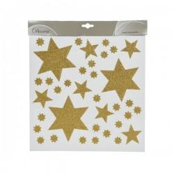 Dekoracja na okno gwiazdy złota 31x32cm