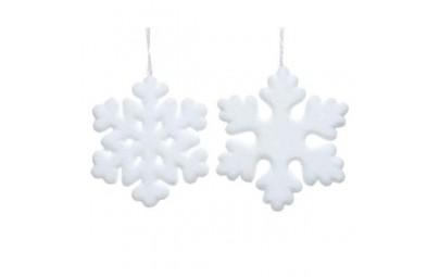 Śnieżynka z pianki biała...
