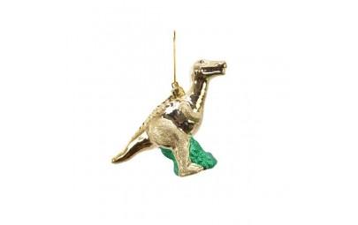 Dinozaur z zawieszką złoty...
