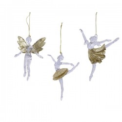 Zawieszka na choinkę baletnica mix 13,5cm