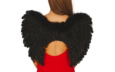 Skrzydła anioła czarne 60x45cm