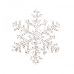Zawieszka płatek śniegu przeźroczysty 18cm