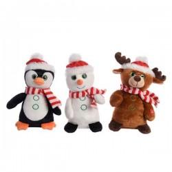 Zabawka grająca pingwin / bałwan / renifer 18x12x28cm