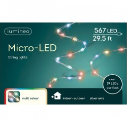 Lampki micro 567 led srebrny/multi wew/zew 9m