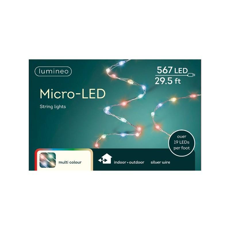 Lampki micro 567 led srebrny/multi wew/zew 900cm