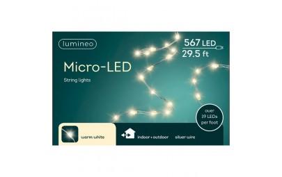 Lampki micro 567 led srebrny/ciepły biały wew/zew 900cm