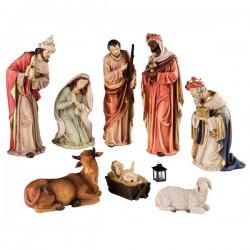 Figury do szopki Jezus, Maria, Józef, Trzej królowie, owca, krowa 8szt