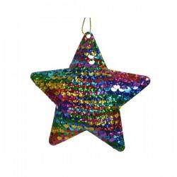 Gwiazda z cekinów zawieszka 1,5x10,5x10x5cm