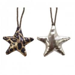 Gwiazda zawieszka w panterkę/srebrna 13cm