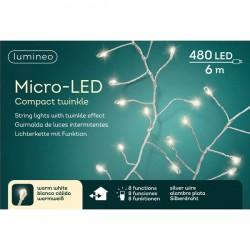 Lampki micro 480 led srebrny/ciepły biały wew/zew 600cm