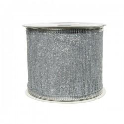 Wstążka dekoracyjna srebrna...