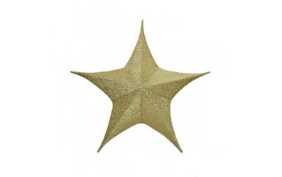 Gwiazda złota z brokatem 135cm