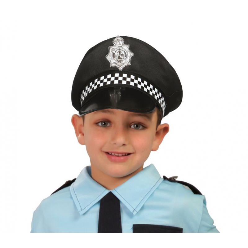 Czapka policjanta czarna (dla dzieci)