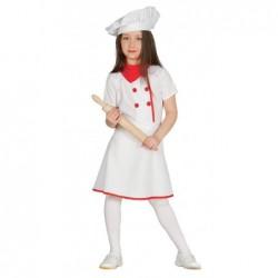 Strój dla dzieci Kucharka roz. dla 5-6latki (czapka, chustka, sukienka)