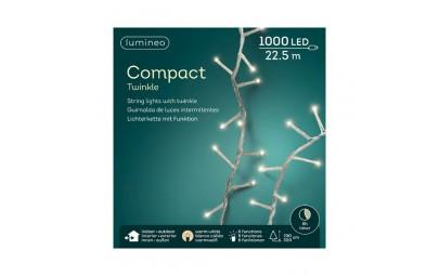 Lampki 1000 led transparentny/ciepły biały wew/zew 2250cm