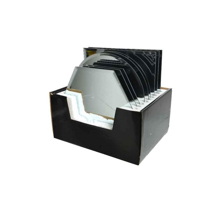 Talerz lustrzany okrągły/kwadratowy srebrny 20x20/20x17cm