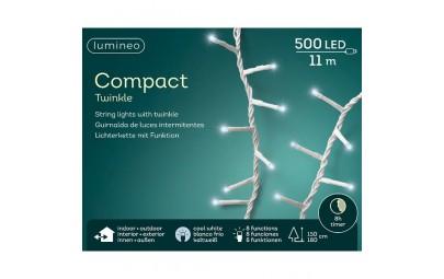 Lampki 500 led zimny biały wew/zew 1100cm