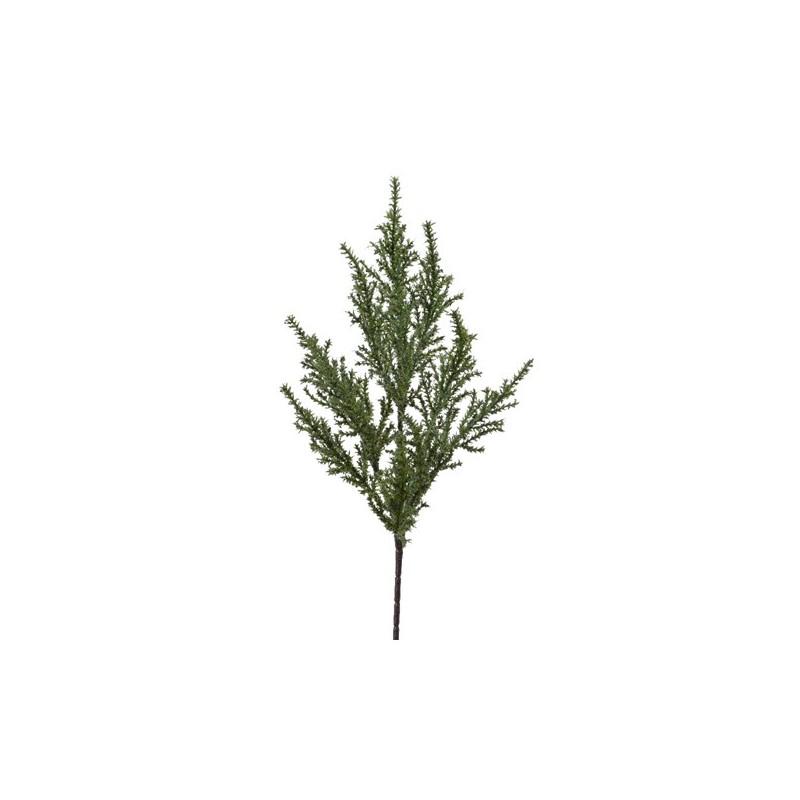 Gałązka ozdobna iglasta zielona 40cm