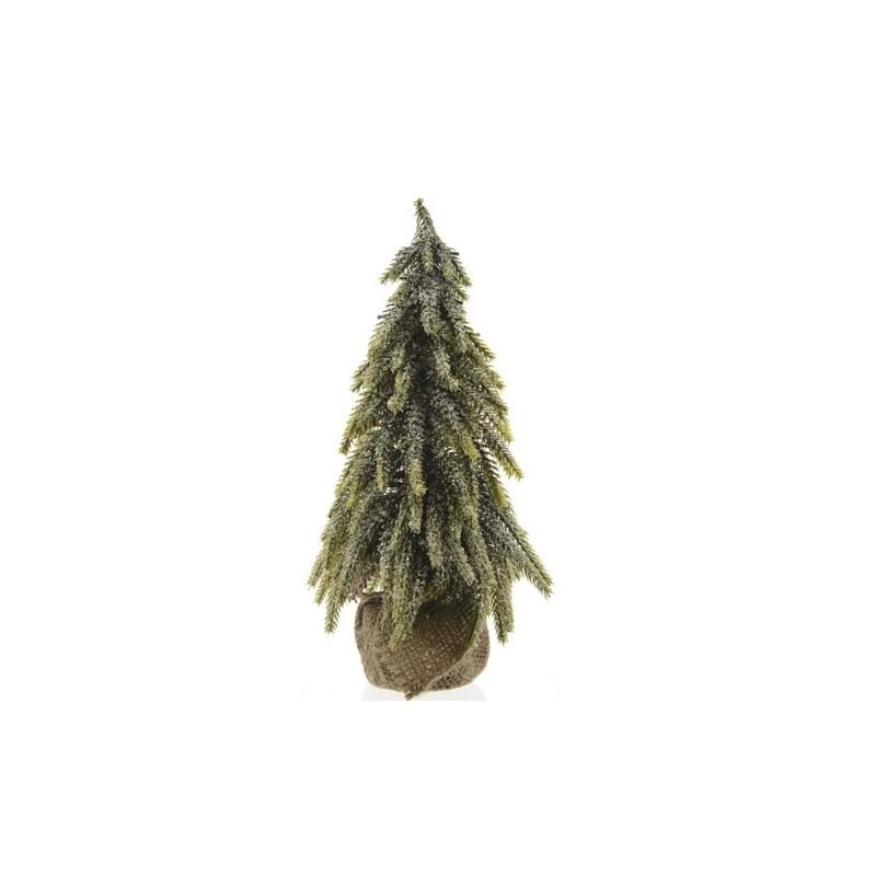 Drzewko zielone , małe w jutowej osłonie 16x16x27cm