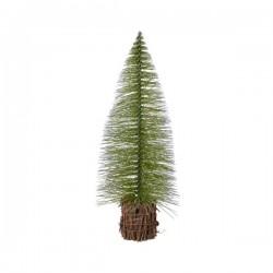 Drzewko mini zielone w wiklinowej osłonce 14cm