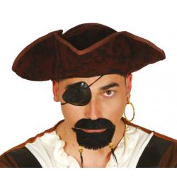 Kapelusz pirata brązowy