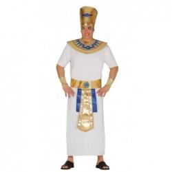 Strój dla dorosłych Faraon M 48-50 (czapka, kołnierz, opaski na rękę, pasek, tunika)