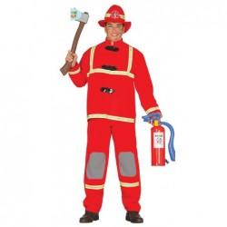 Strój dla dorosłych strażak M 48-50 ( czapka,bluza,spodnie)