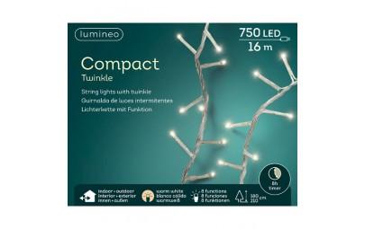 Lampki 750 led transparentny/ciepły biały wew/zew 1600cm
