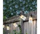 Lampki led słoiki 10szt 4,50m ciepły biały