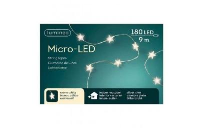 Lampki micro gwiazdki 180 led zew/wew ciepły biały 9m
