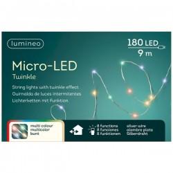 Lampki micro migające 180 led zew/wew multikolor 9m