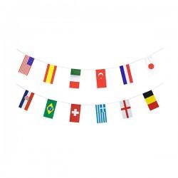 Girlanda flagi z papieru 32 Państwa 10m