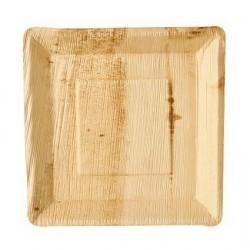 """Talerz liść palmowy """"pure""""prostokątne 25x25x2,5cm 25szt art.85501"""