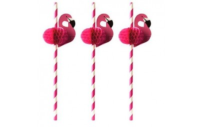 Słomki z papieru Flamingo...