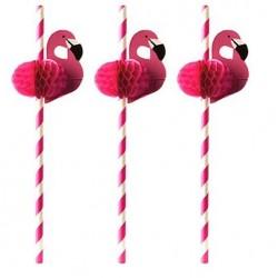 Słomki z papieru Flamingo 20 cm 50 szt art. 87782