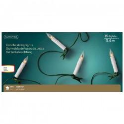 Lampki świeczki 15 szt. z płomieniem wewnętrzne 5,6m