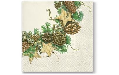 Serwetka Cones Wreath...
