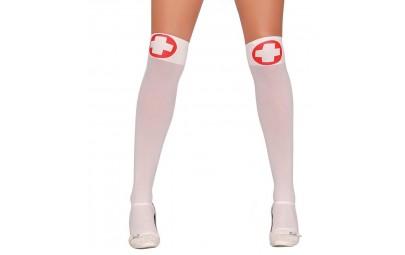 Podkolanówki pielęgniarki białe